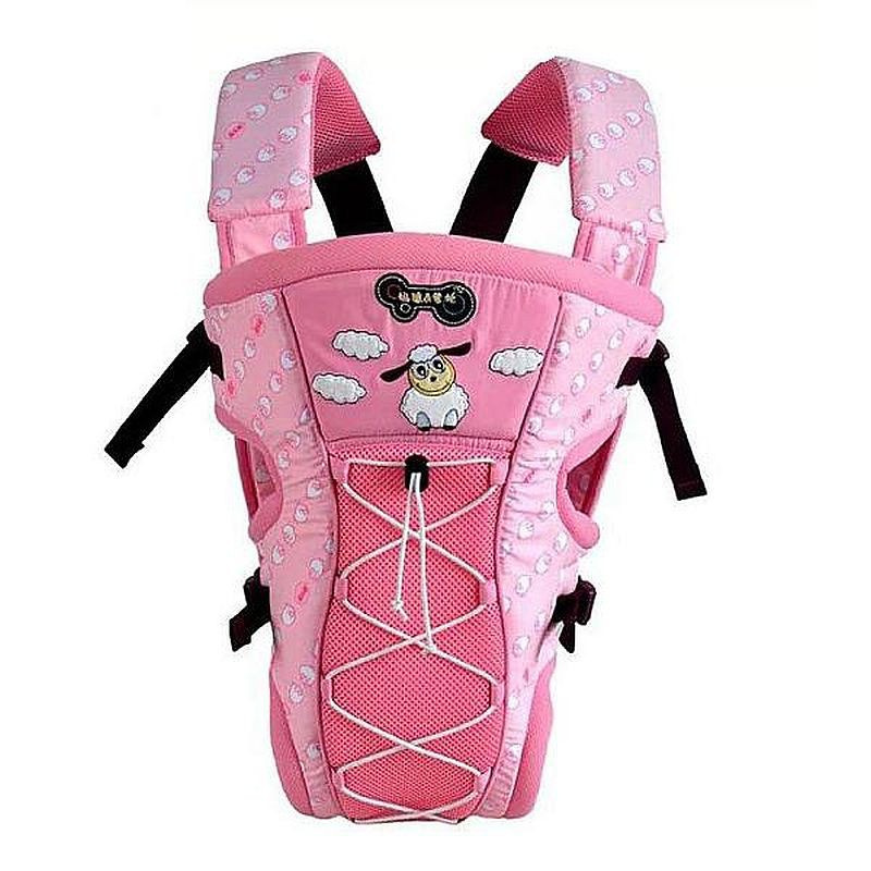 Mylilangelz KA0164 Mommy & Daddy Breathable 2-In-1 Baby Carrier (Pink) (READY STOCK)
