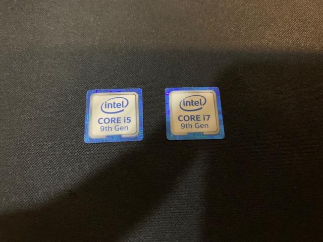 10PCS Intel CORE i5 8th Gen Sticker 18mm x 18mm 8th Generation