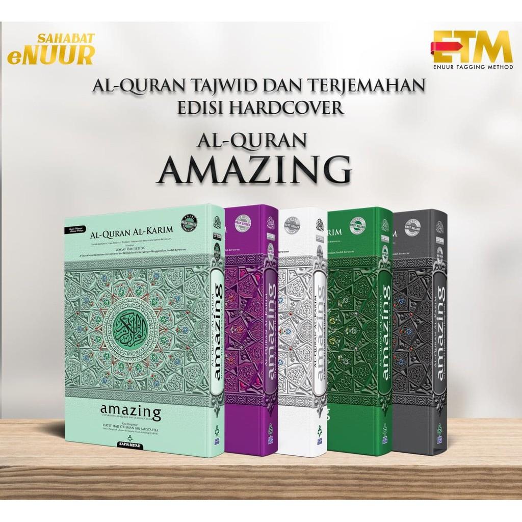 Al Quran Tagging A4 Amazing Karya Bestari Terjemahan dan Tajwid Hard Cover Hantaran Hadiah SAHABAT ENUUR EMMEMARINA