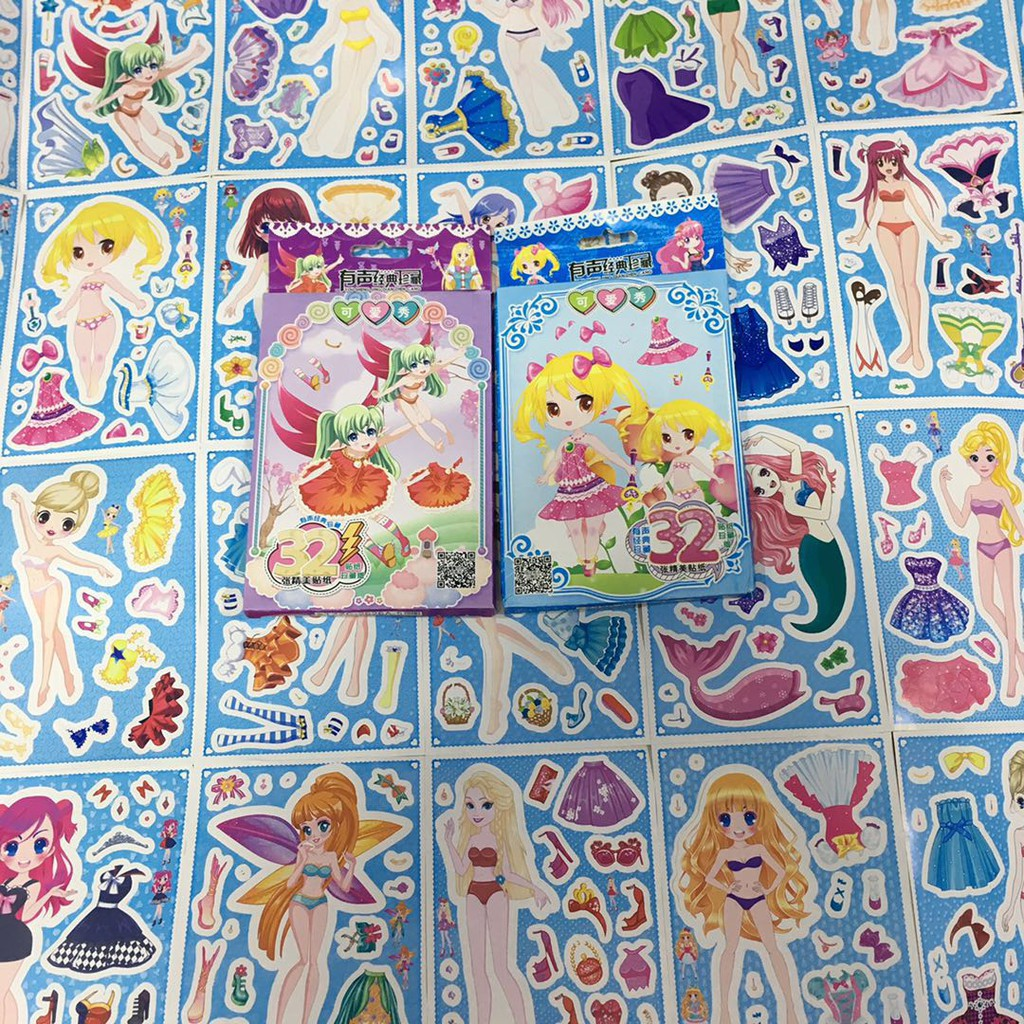 Dressing Up Girl 3d Puffy Stickers Anime Manga Card Making Craft BUY 1 2 3