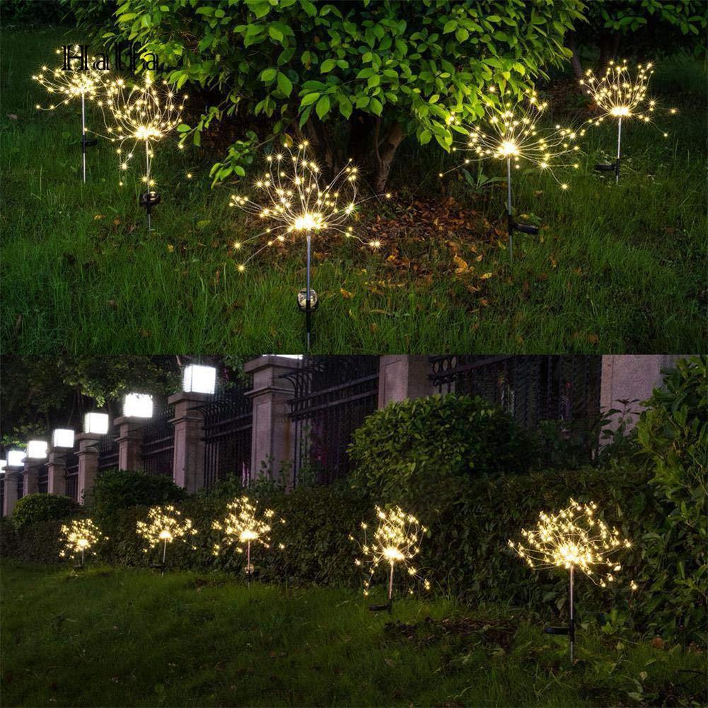 Solarbetriebene Rose Blume Licht LED Stake Lampe Outdoor Garten Pathway Decor
