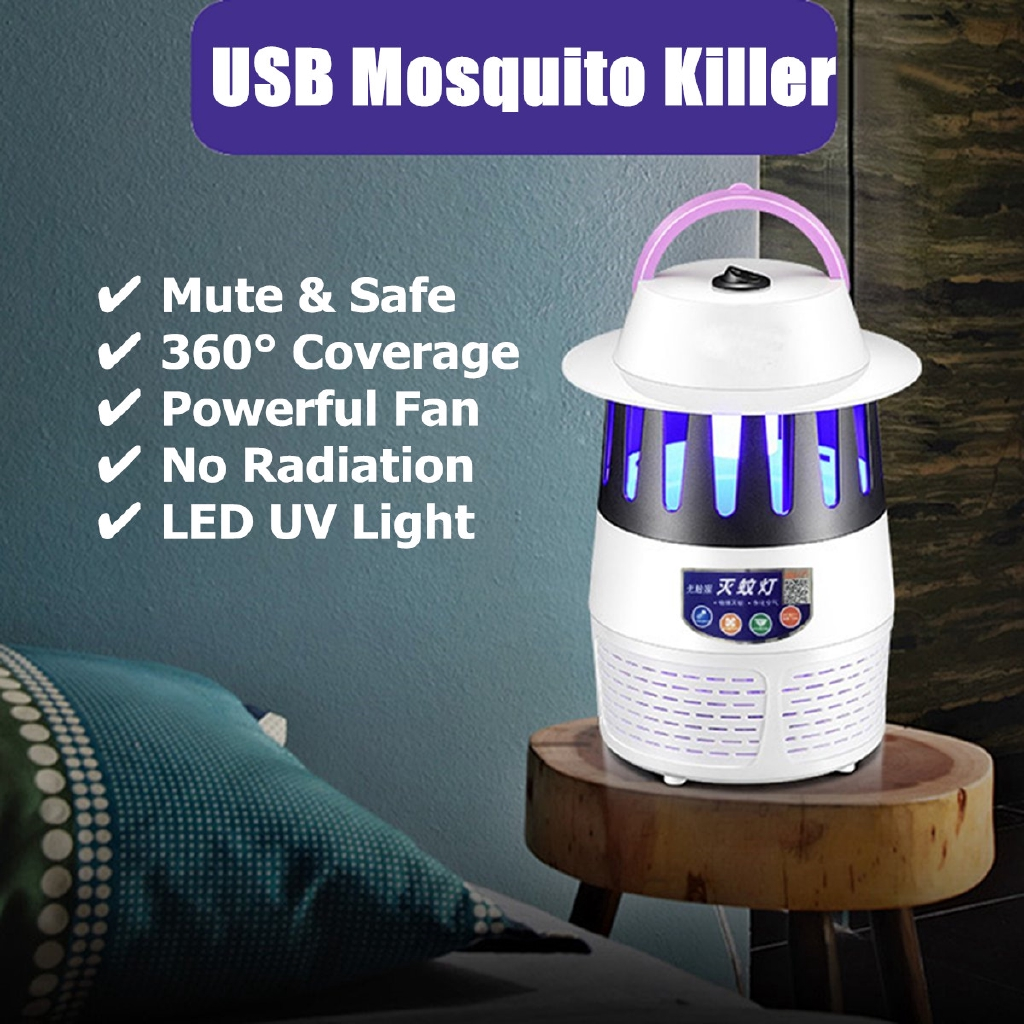 Lights & Lighting Usb Powered Led Mosquito Killer Lamp Trap Insect With Fan Dc5v Safe For Kids Switch On/off For Bedroom,balcony