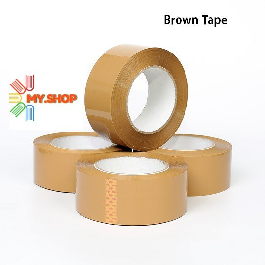 OPP Transparent / Brown Tape  48mm X 80m 1 roll
