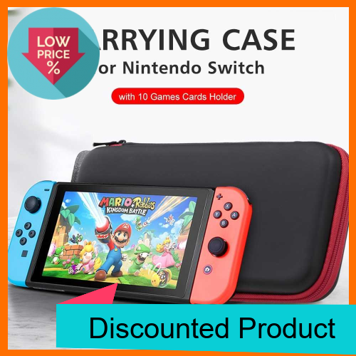 Great Discount Carrying Case for Nintendo Switch with 10 Games Cards Holder Hard Shell Travel Carry Case Handbag for Ni