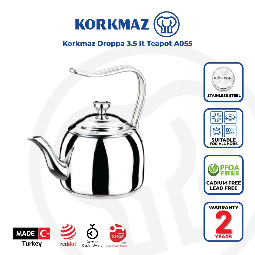 Korkmaz Droppa 3.5 lt Teapot A055