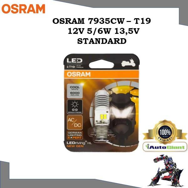 OSRAM 7935CW - T19 12V 5/6W 13,5V STANDARD (LED) LAMPU DEPAN KAPCAI, EX5, LC135