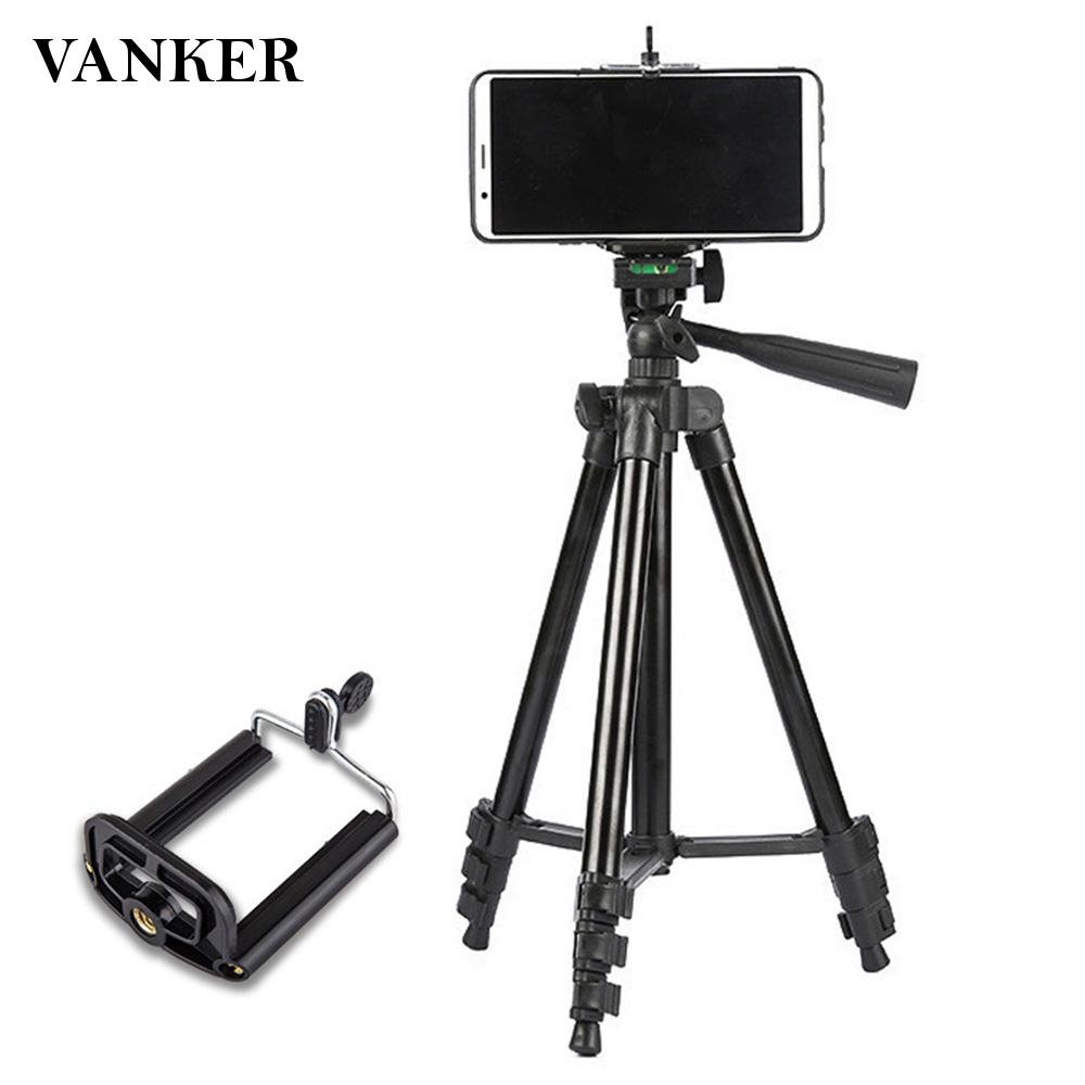 Portable Phone Live Selfie 3366 Tripod Stand DV SLR Camera Self-Timer Full Light Bracket Durable Color : Black