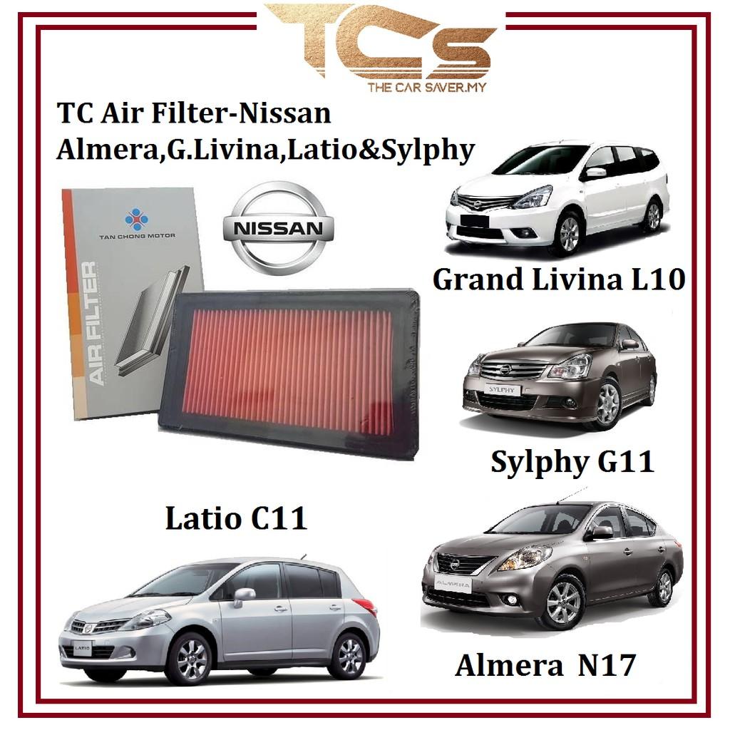 TC Air Filter - Nissan Almera, G. Livina, Latio & Sylphy