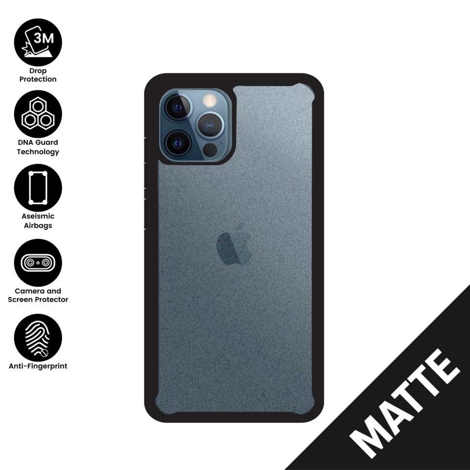 X.One® DropGuard 2.0+ iPhone 11, 11 Pro, 11Pro Max, 12/12 Pro, 12 Pro Max (Matte) Impact Protection Case Xone