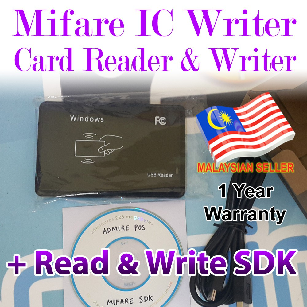 MIFARE Card Reader & Writer Encoder with SDK for Programming - RFID IC  13 56mhz