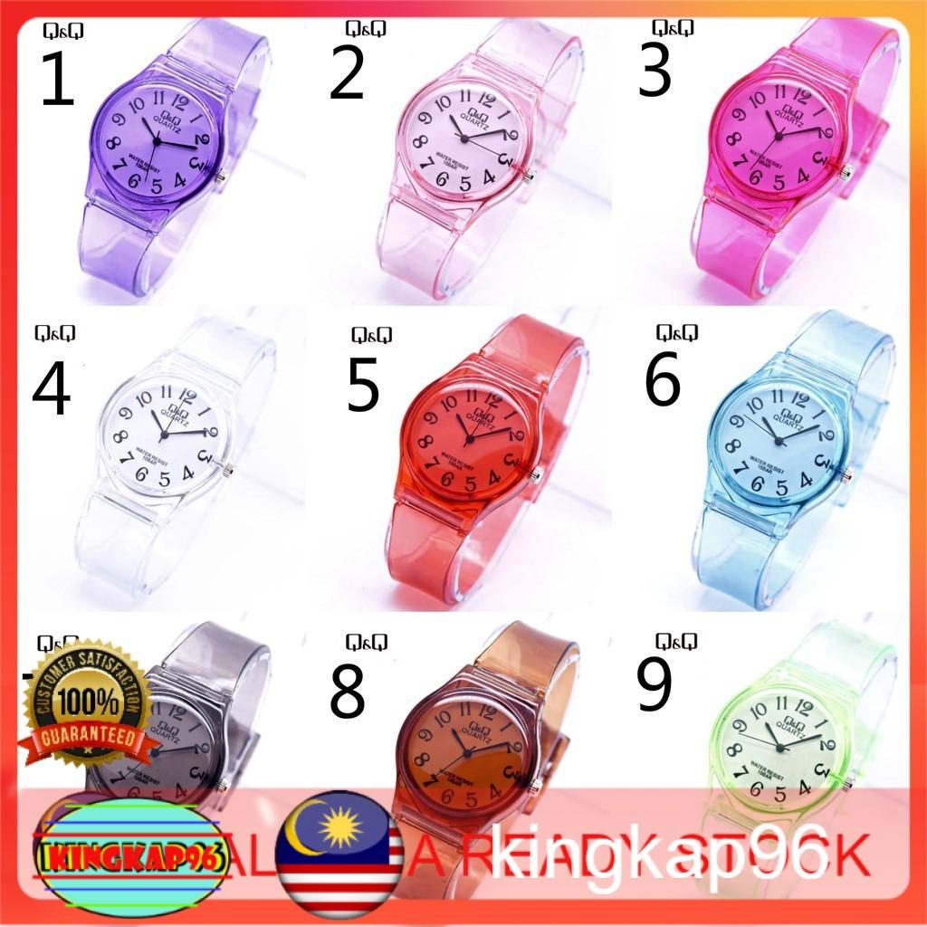 Ready Stock Kid S Watch Transparent Q Q Jelly Rubber Watch Transparent Color Analog Watch Jam Tangan Kanak Kanak 孩子们看 Shopee Malaysia