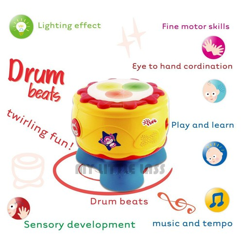 Mini Drum King Baby Musical Toy Drum with Light and sound
