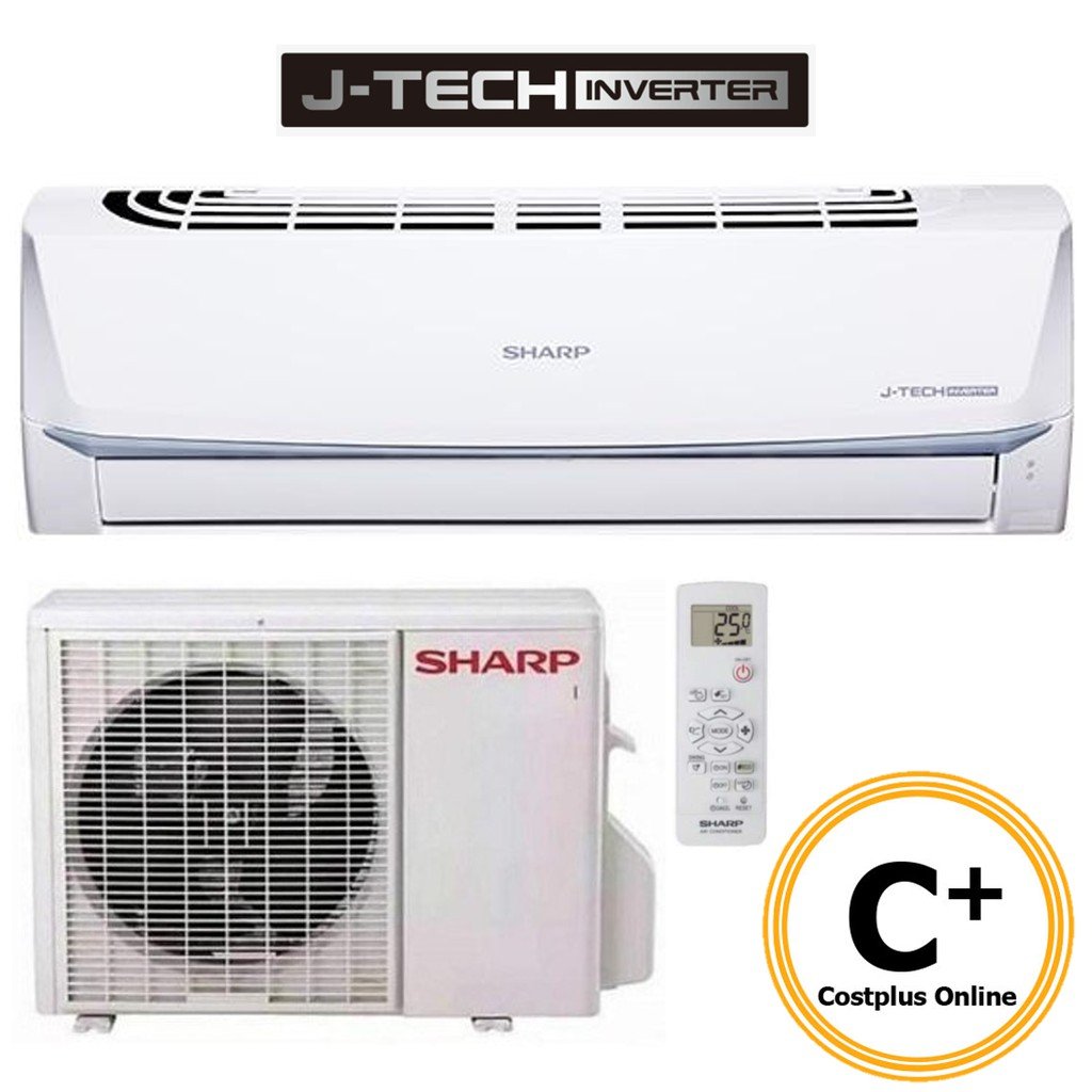 Sharp 1.0HP Inverter Air Conditioner AHX9UED / AUX9UED Aircond with Remote Control