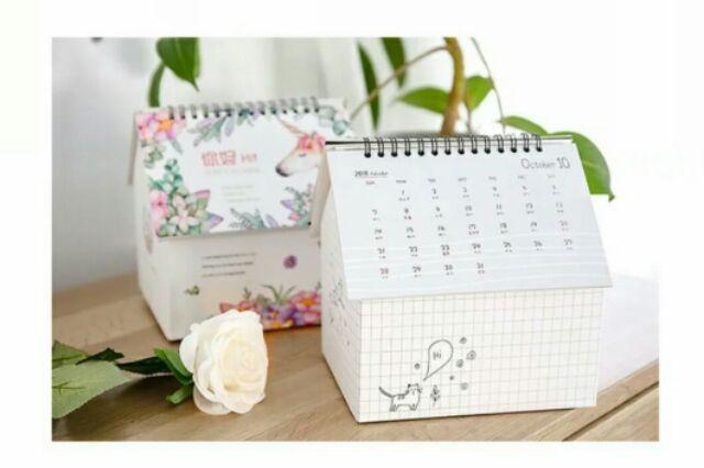 Elegant Calender 2019 with Storage Creative Gift Storage Box Calender