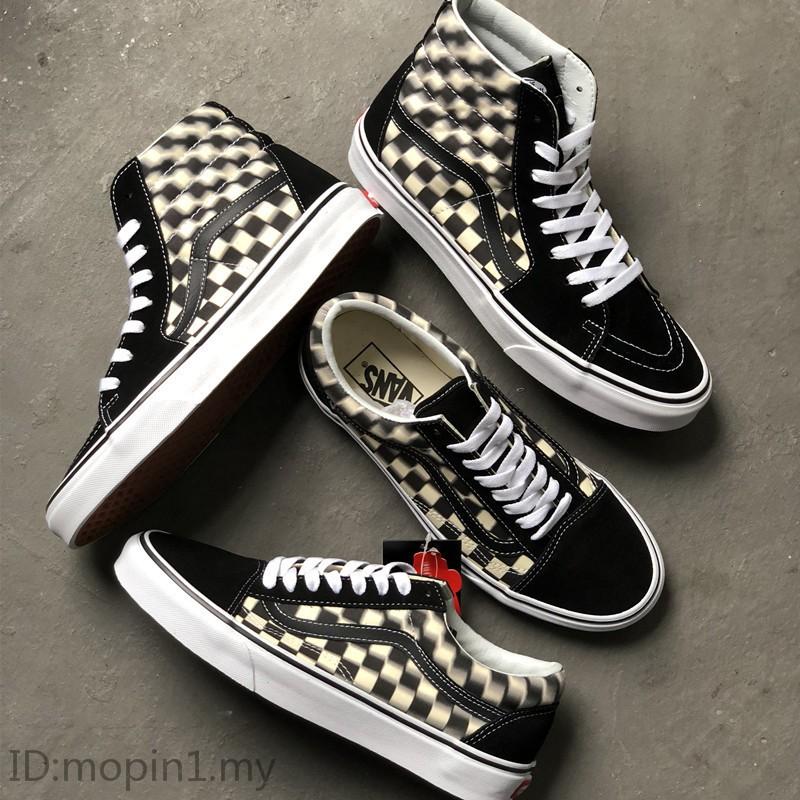 vans old skool checkerboard high top