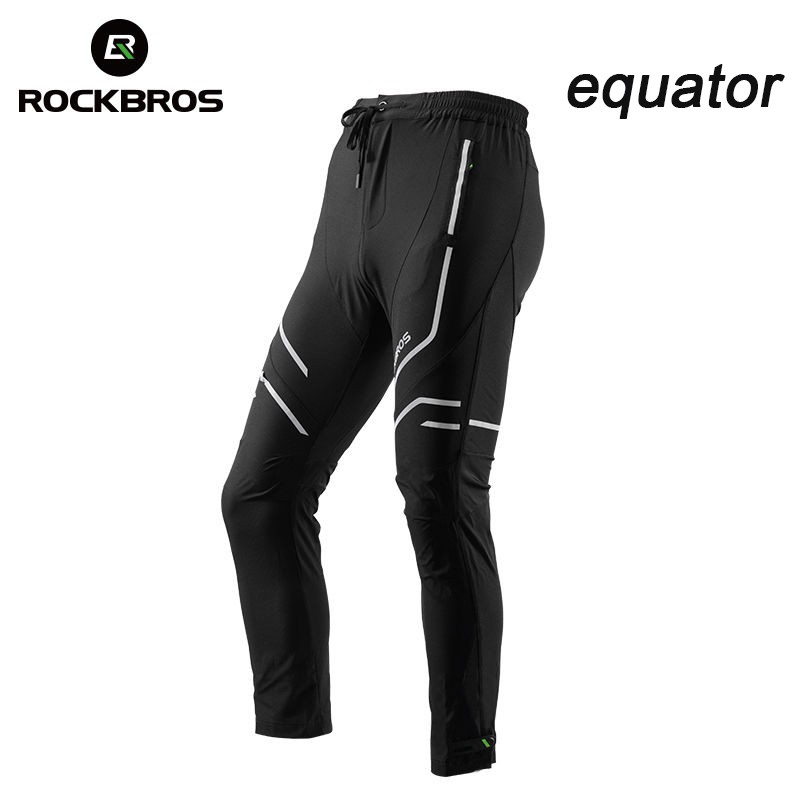 RockBros Cycling Pants Bike Tights Men/'s Long Pants Reflective Trousers Black