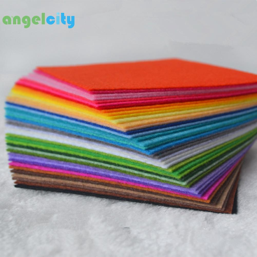 ANGღ40pcs Non-Woven Polyester Cloth DIY Felt Fabric Sewing Doll Crafts Decor Home Living