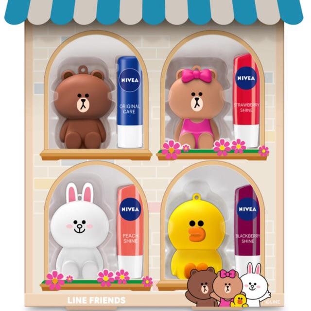088382224 Nivea 4.8g Lip Balm & Limited Line Friends Brown Sally Cony Choco Holder |  Shopee Malaysia
