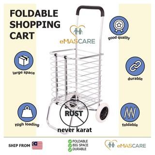 7b41ecc817d9 Folding Foldable Shopping Grocery Trolley Cart Oxford Bag Aluminium ...