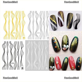 Help you become beautiful Nail Art Laser Metal Stripe Line Tape Adhesive  Transfer Foils Decals Decoration