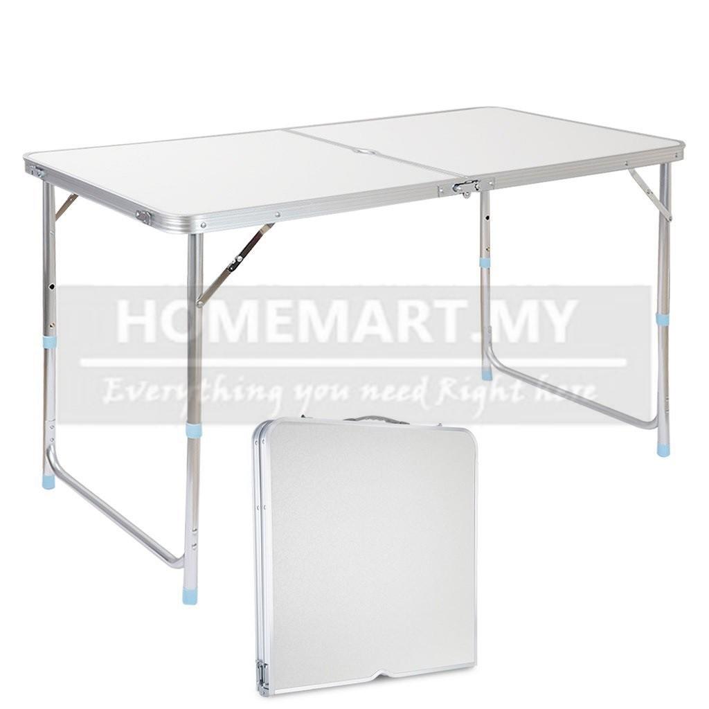 Outdoor Garden Aluminum Portable Folding Camping Picnic Table W// 4 Seats HM