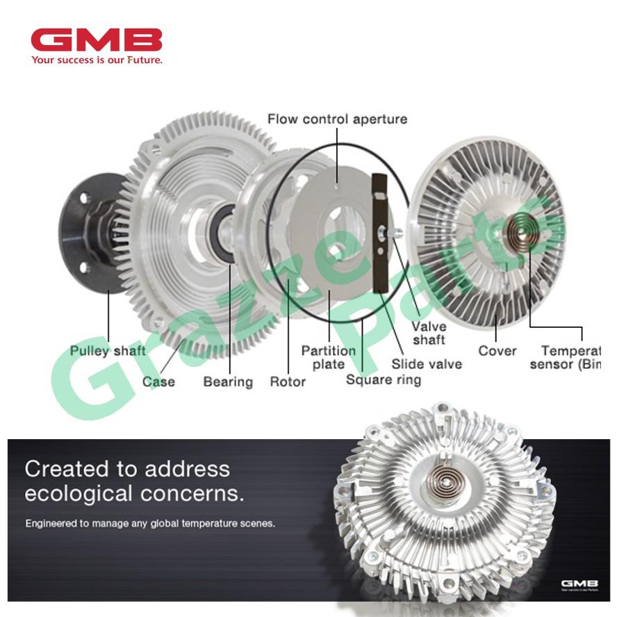 GMB Fan Clutch for GFT-225 Toyota Landcruiser HDJ80 HDJ101