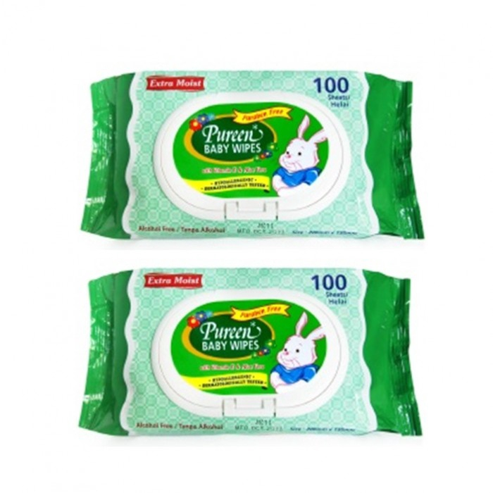 Pureen Baby Wipes Value Pack 100\'s x 2