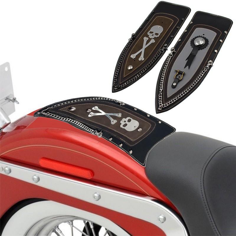 Faway Motorcycle Canvas Saddlebags Equine Back Pack for Haley Sportster//Honda