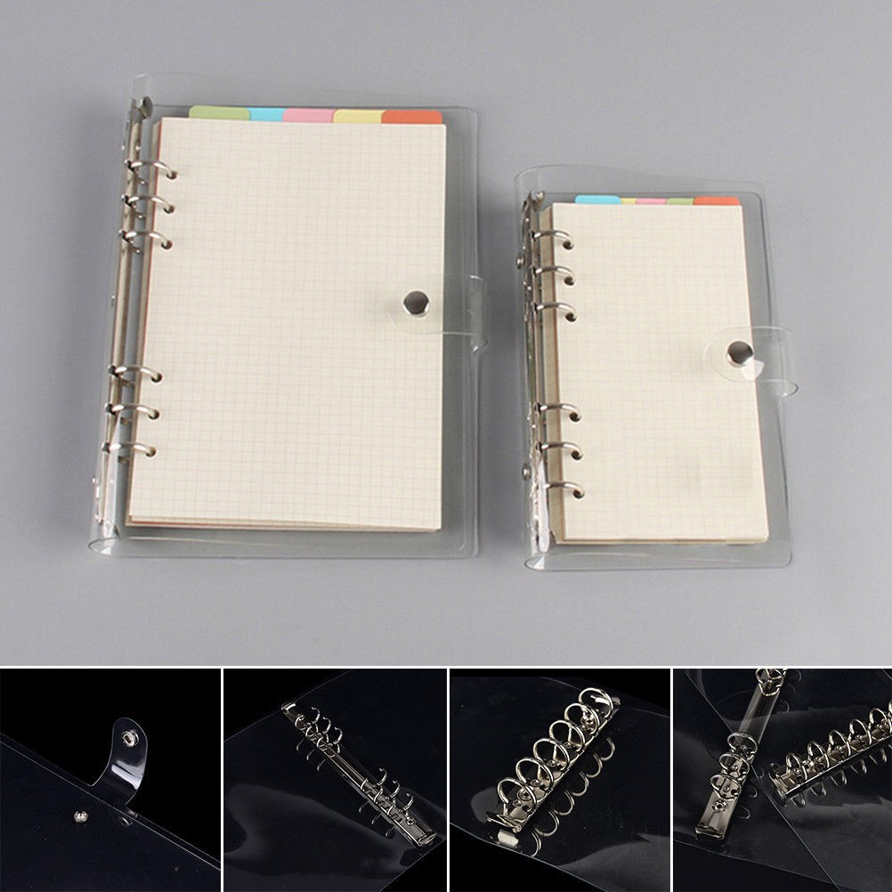Filing Products 1xnotebook Cover File Folder Refillable Ring Binder Spiral A7 20 Holes Binder Planner Cover Office School Stationery Office & School Supplies