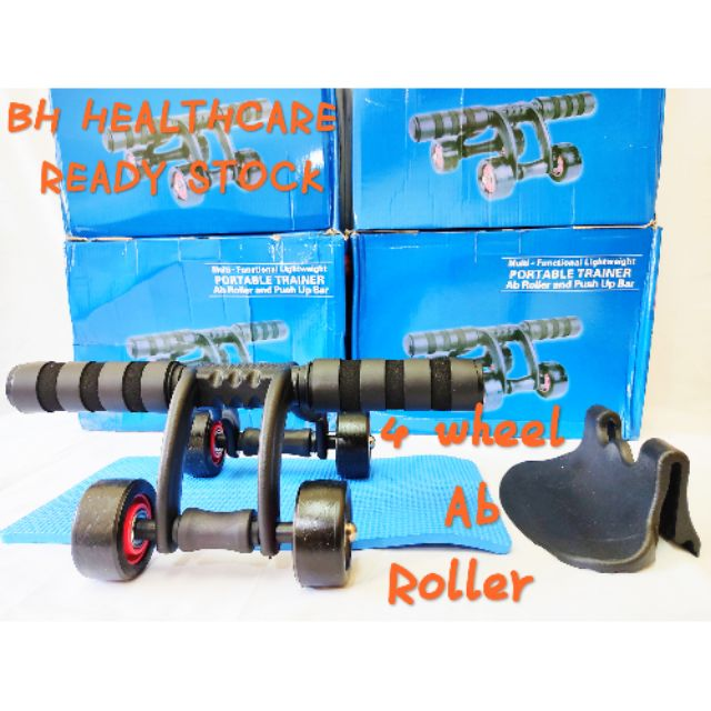 [READY STOCK]4Wheel AB Roller/4Wheel AB Slider/Abdomen Wheel/Abdomen Roller/Home use fitnees equipment ==HOT SALE ITEM==