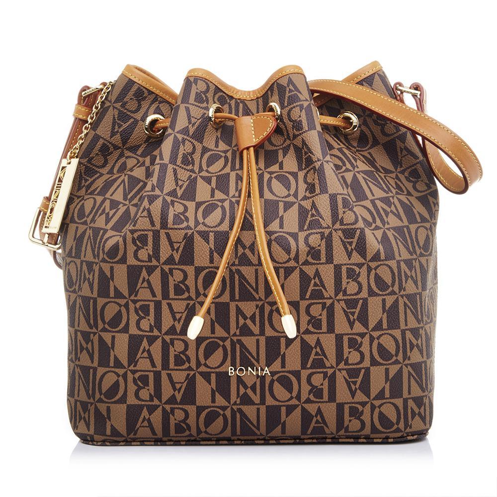 Bonia Caia Bucket Bag L Dark Brown