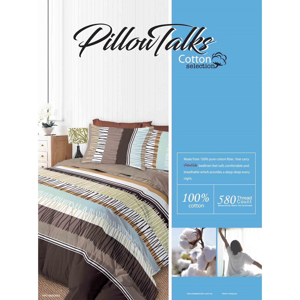 Pillowtalks Cotton Bed 580 Thread Count Super Single Comforter Set