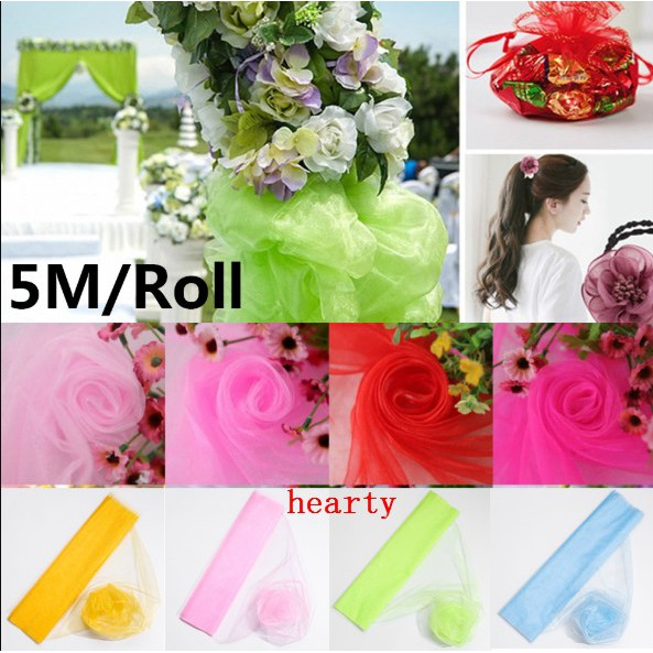 9ae01dfe8c5af 50CM*5M Sheer Crystal Organza Tulle Roll Fabric Draping Wedding Ceremony  Party Home Decoration