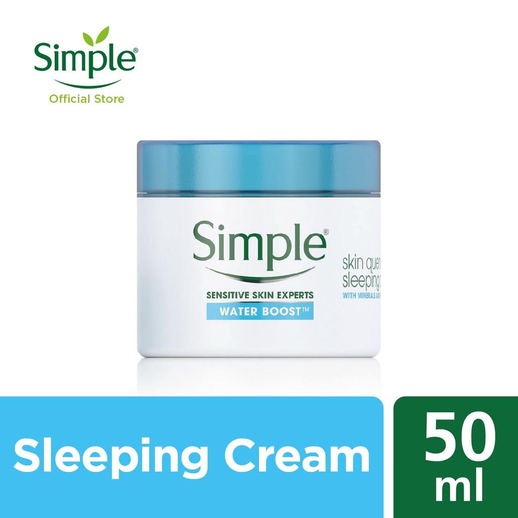 Simple WaterBoostSkin Quench Sleeping Cream (50ml)