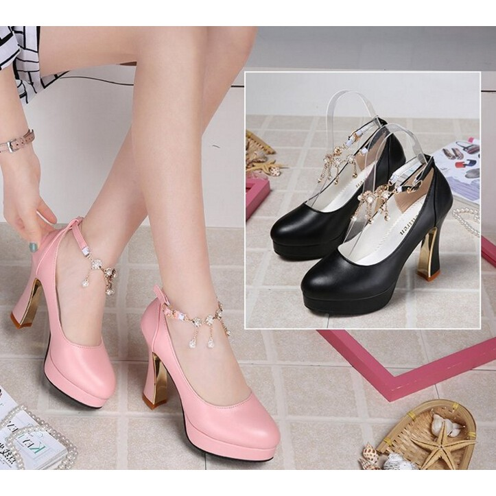 d6a8c26739d45 Women Casual Office Lady Work Shoes Med Block Heel Round Toe Pumps Wedding  Shoes