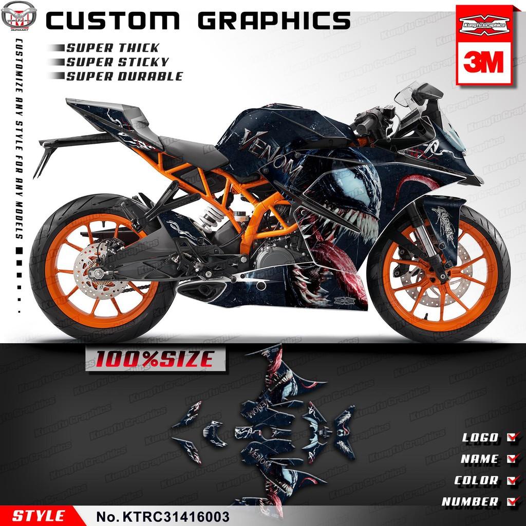 SM décor Décalque Kit Autocollant Sticker Graphics 2011-2017 KTM DUKE 125//200