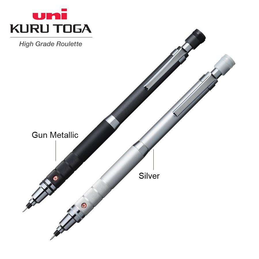Uni KURUTOGA High Grade Roulette Model Silver 0.5mm Mechanical pencil