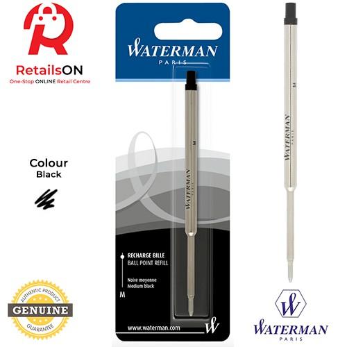 Waterman Ballpoint Ball Pen Refill MEDIUM Point Blue or Black