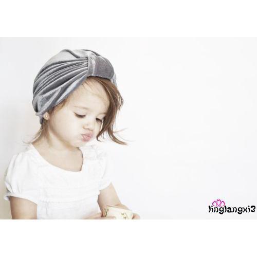 72f28c434 GGL-Fashion Girl Baby Bow Beanie Cap Toddler Infant Velvet Turban ...