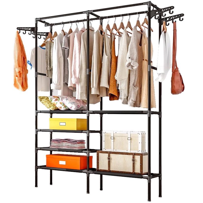 Multi-Functional Clothing with hanger Storage Rack Rak Baju Clothes Hanger