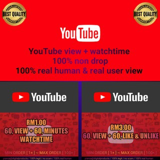 Youtube View Free Watch Time Retention From Each Views Shopee Malaysia