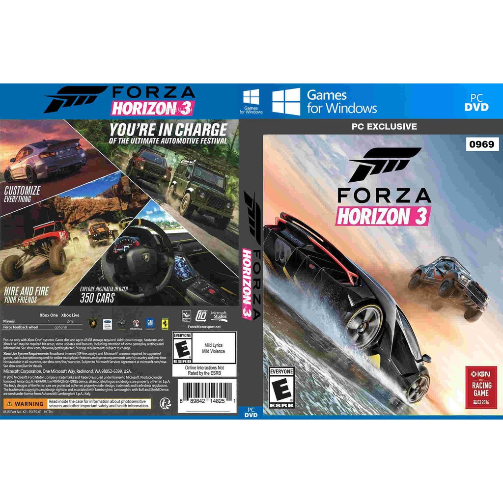 Pc Forza Horizon 3 Shopee Malaysia Tekken 7 Foldable Fan Ps4 Region English