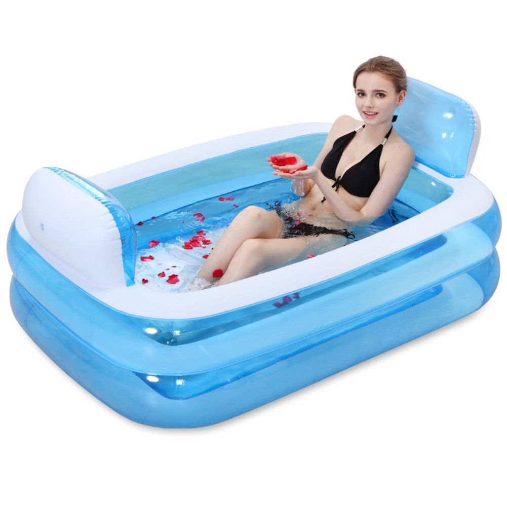 Genuine Intime Thick Plastic Inflatable Bathtub | Shopee Malaysia