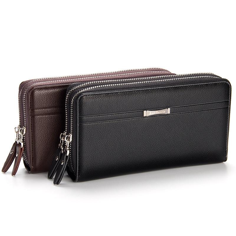Men Large Capacity Cell Phone Pocket Zipper Long Men Card Holder Business Wallet