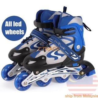 Kids 🌟InStock Rollerblade Inline Skate + All Flash Wheel Adjust Shoe Kasut  Roda 93c1a6a712