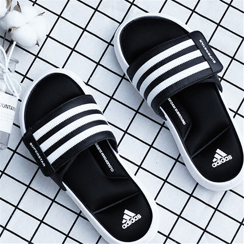 Paleto Prosperar Seguir  Ready Stock】 Adidas Superstar 5G Black and White Three Bars Casual Beach  Sandals and Slippers | Shopee Malaysia
