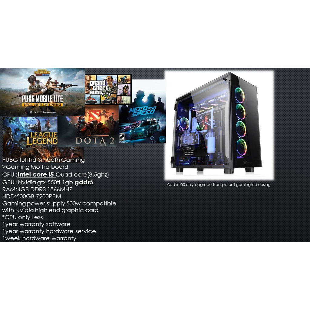 Budget Gaming PC with ultra fast performance