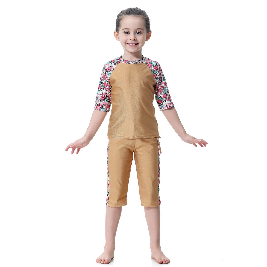 593616f533 Muslim Hui Girls Swimsuit Conservative Split Bathing Suit | Shopee ...