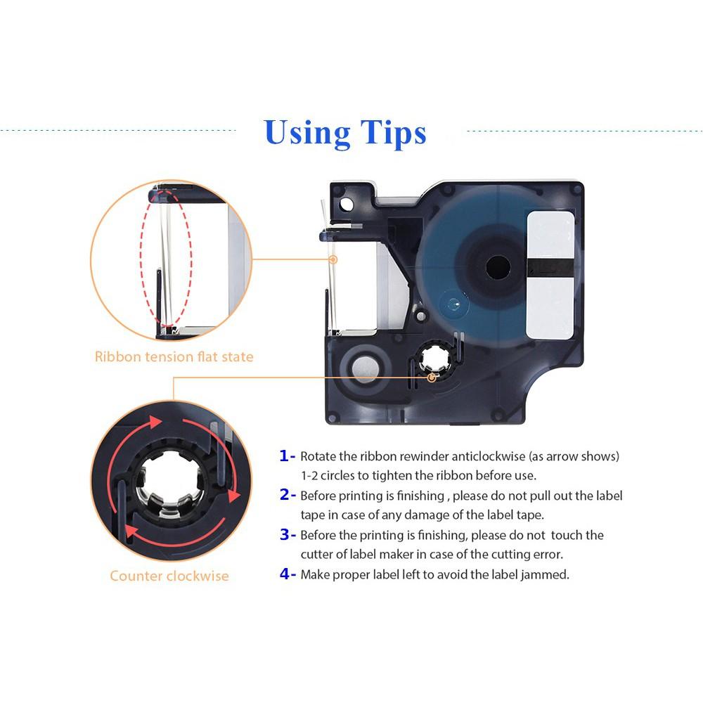 Compatible DYMO D1 Label Tapes For Label Maker 12mm Printer