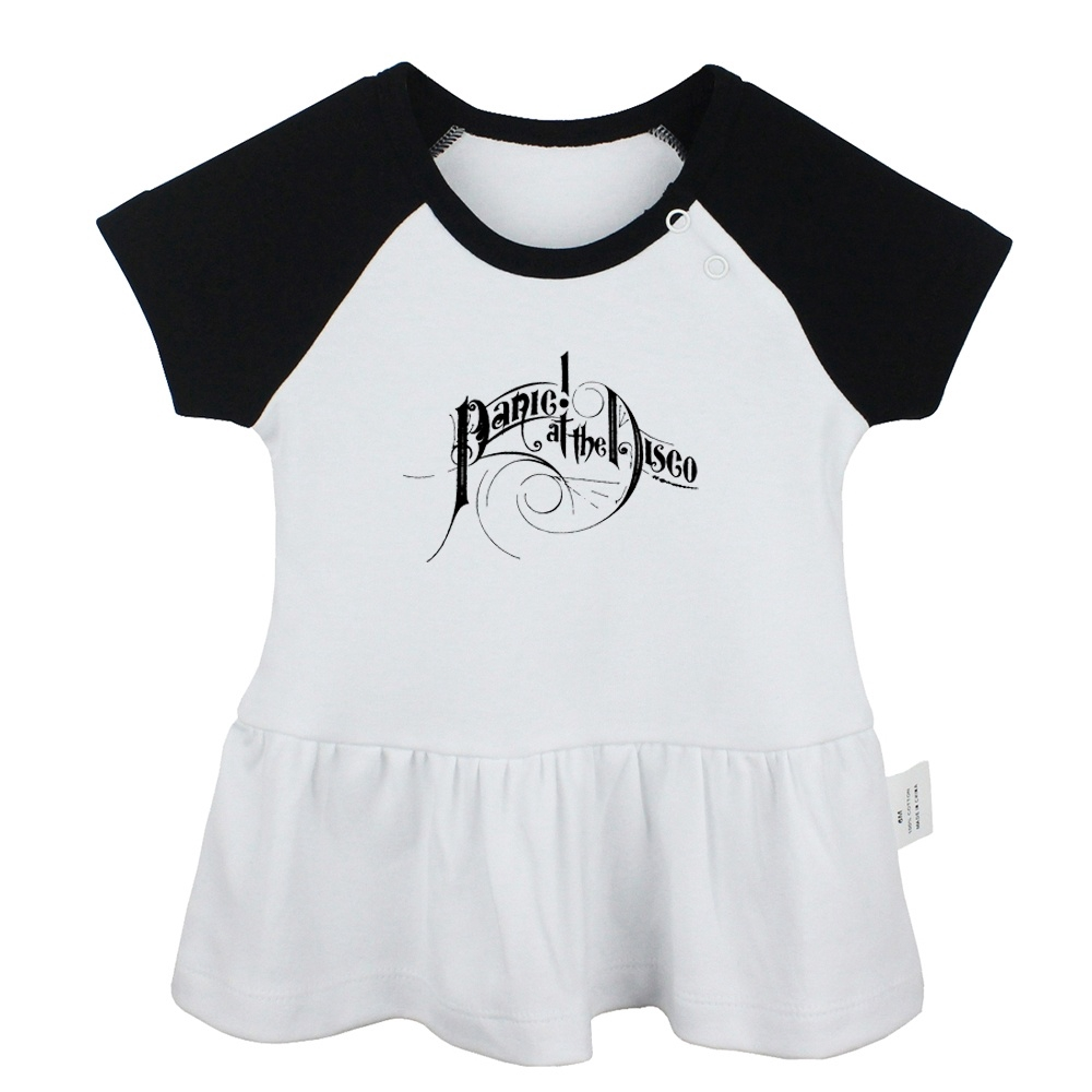 Panic at the Disco Design Newborn Baby Girls Dresses Toddler 8% Cotton  T-shirt Dress Infant Clothes Vest Tops